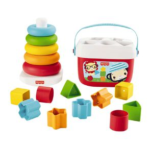 Fisher-Price Sustainable Giftpack Rock A Stack & Babys' First Blocks