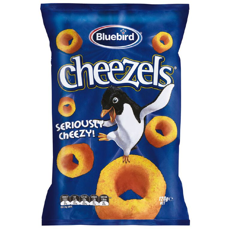 Bluebird Cheezels Cheese 120g, , hi-res