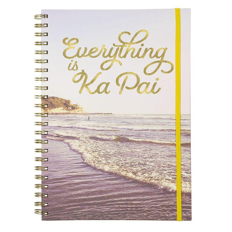 Uniti Fun & Funky Q4 Spiral Notebook Everything Ka Pai Blue Light A4, , hi-res