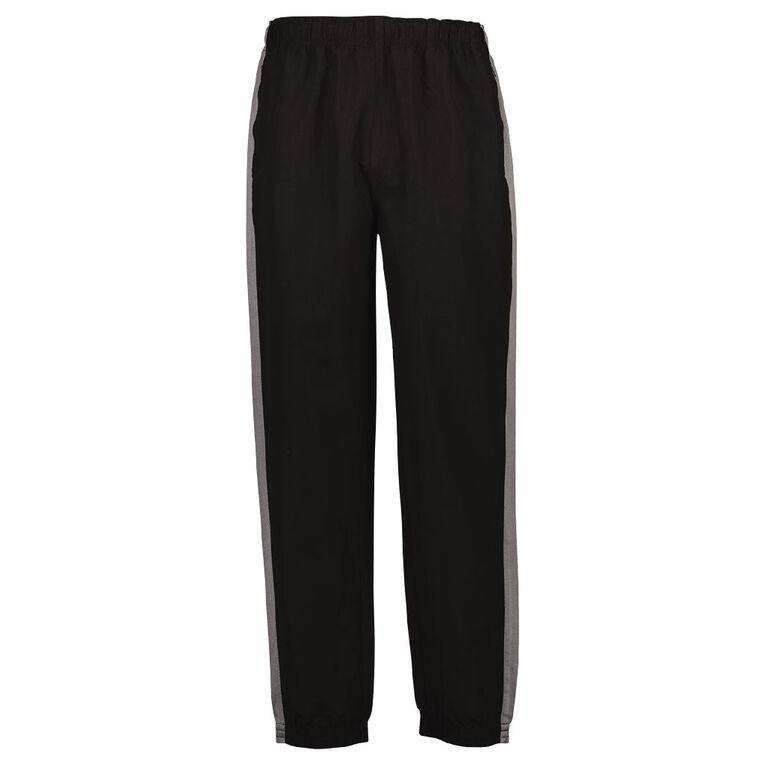 Active Intent Men's Elastic Hem Pants, Black/Grey, hi-res image number null