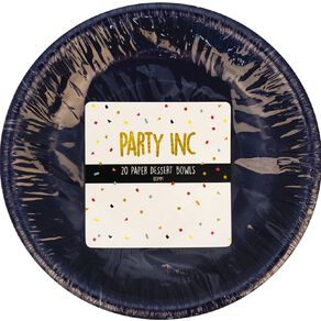 Party Inc Paper Bowls 380ml Royal Blue 20 Pack