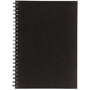 Uniti Visual Diary Spiral 110gsm 60 Sheet Black A4