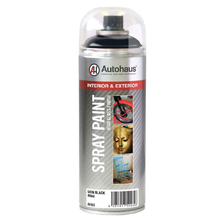 Autohaus Spray Paint Satin Black 400ml, , hi-res