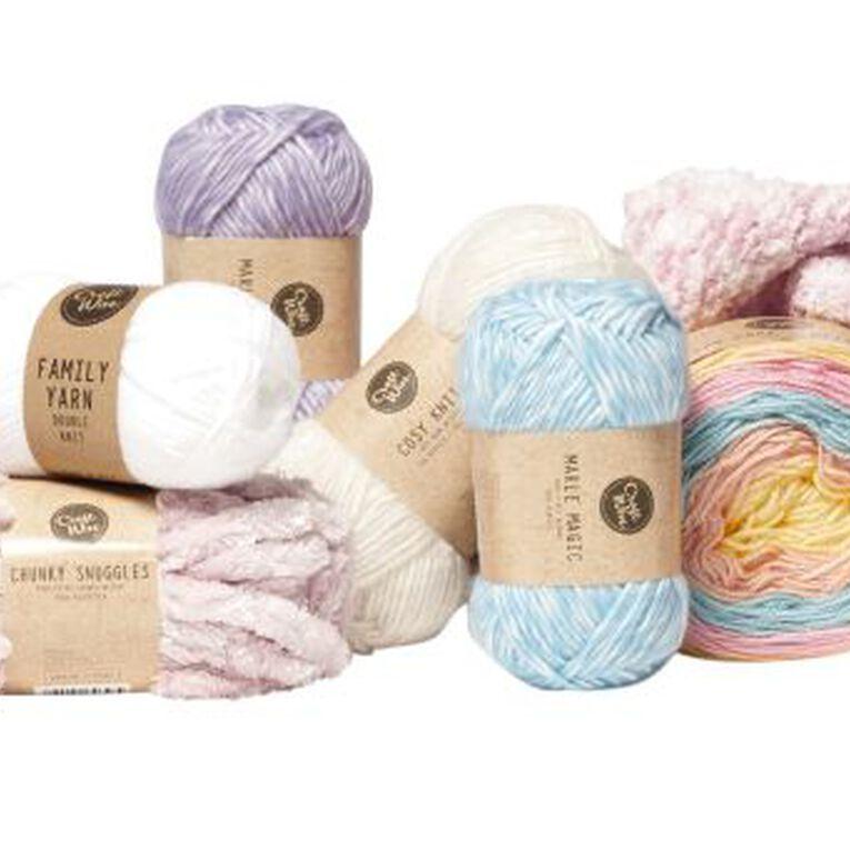 Uniti Yarn Family Double Knit White 50g, , hi-res