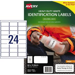 Avery White Heavy Duty Labels White 240 Labels