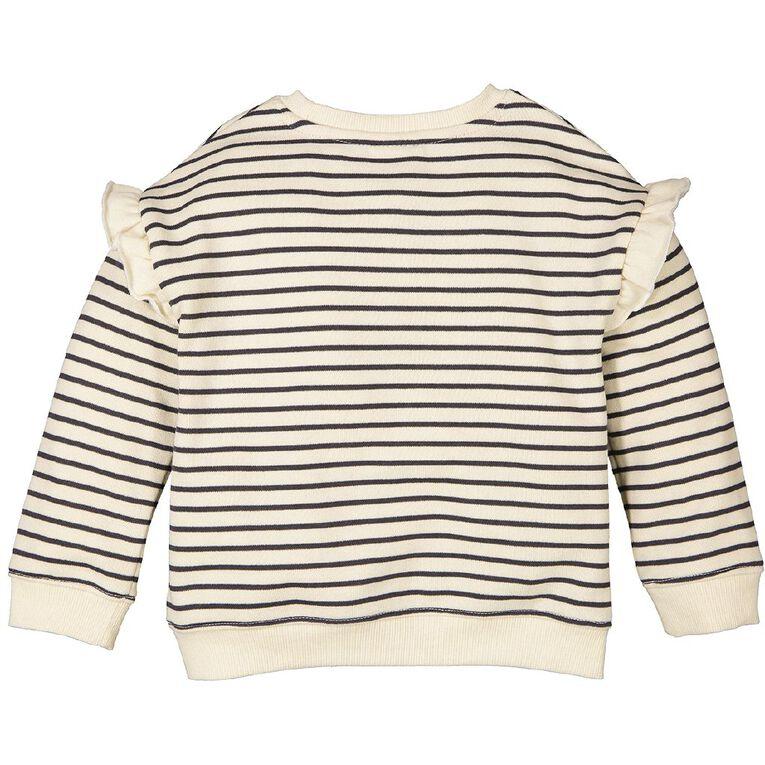 Young Original Toddler Frill Drop Shoulder Sweatshirt, Cream, hi-res
