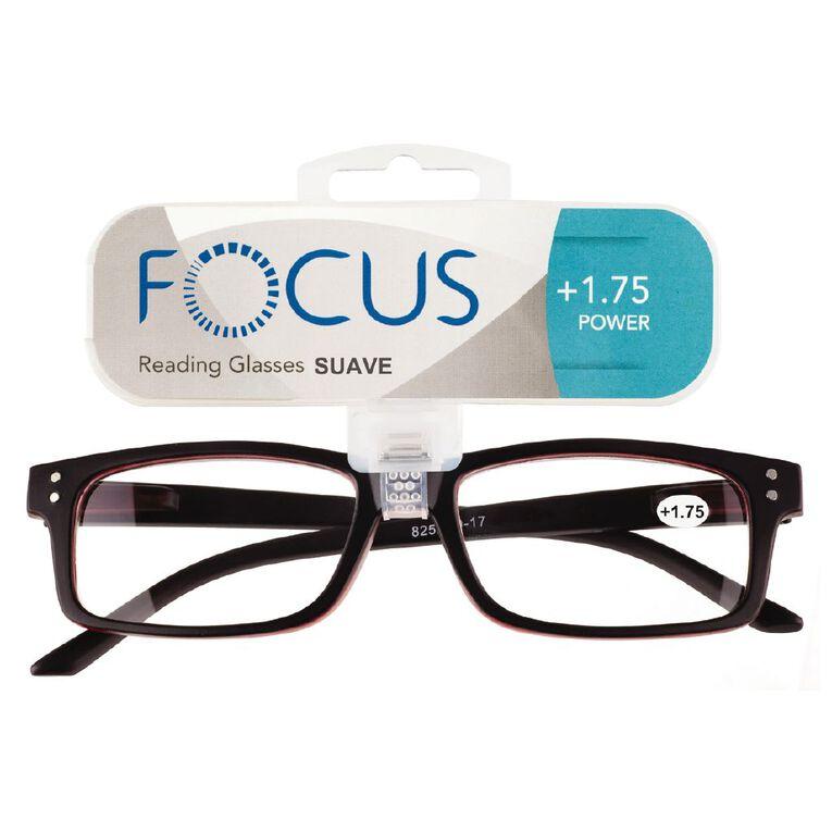 Focus Reading Glasses Men's Suave Power 1.75, , hi-res