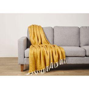 Living & Co Raised Wool Mix Throw 127cm x 152cm