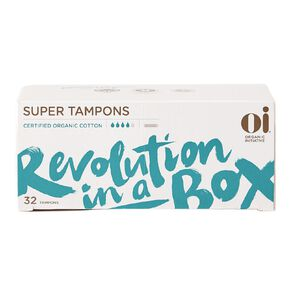 Oi Organic Cotton Tampon Super 32 pack