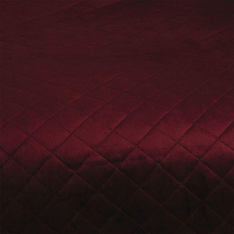 Living & Co Coverlet Velvet Wine Queen/ King, , hi-res
