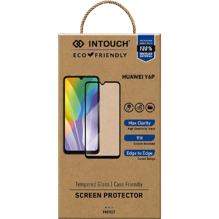 INTOUCH Huawei Y6p Glass Screen Protector Clear, , hi-res