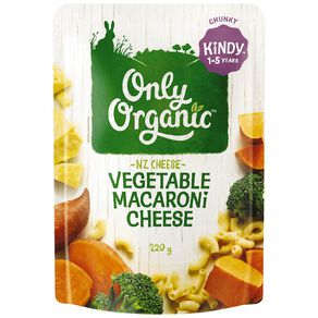 Only Organic Kindy Macaroni & Cheese Pasta Pouch 220g