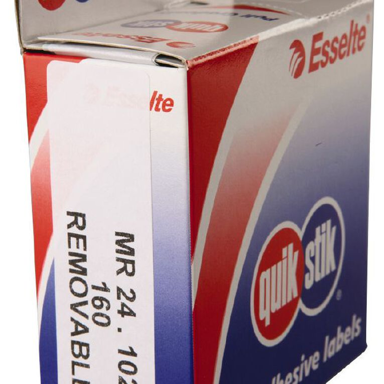 Quik Stik Labels Mr24102 24mm x 102mm 160 Pack White, , hi-res