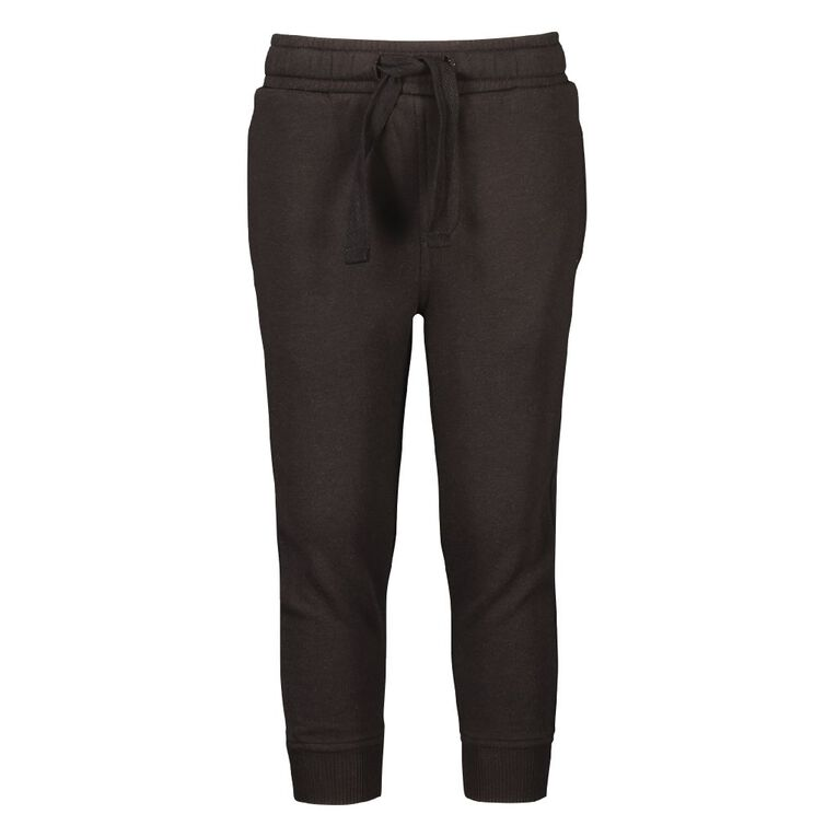 Young Original Boys' Plain Trackpants, Black, hi-res image number null