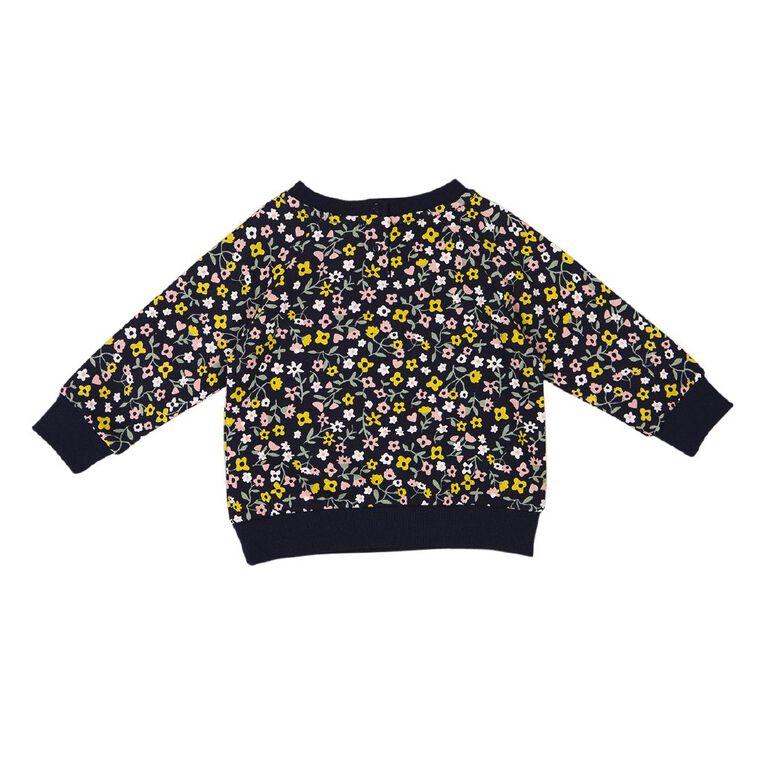 Young Original Baby Raglan Printed Sweatshirt, Blue Dark, hi-res
