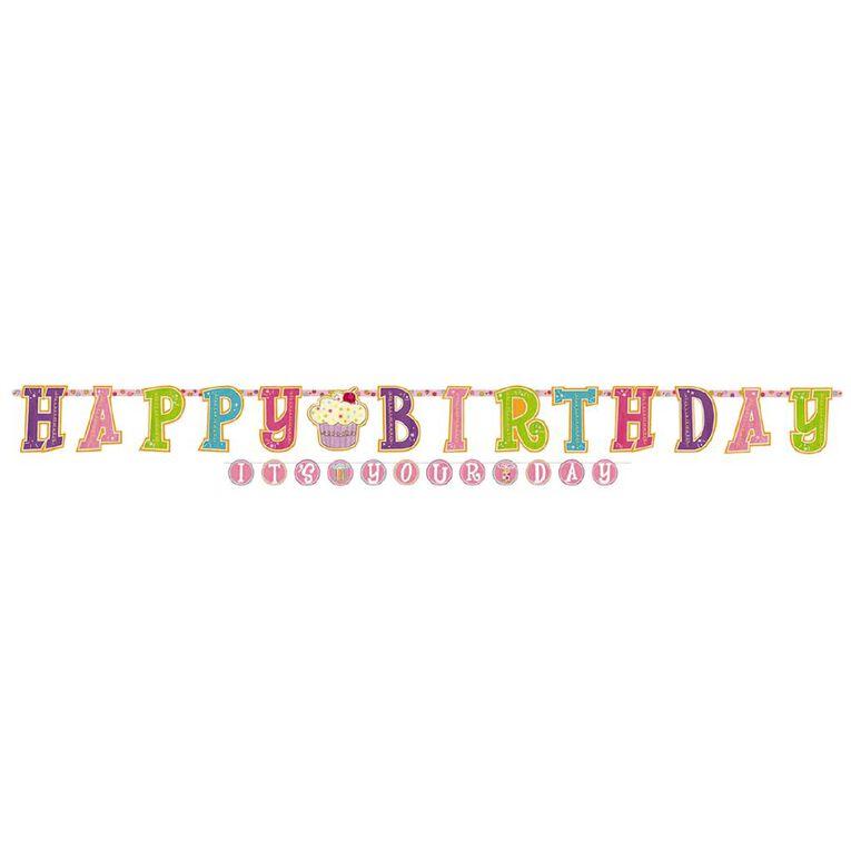 Amscan Happy Birthday Sweet Stuff Letter Jumbo Banner Kit 1.8m, , hi-res
