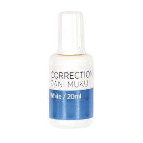 WS Correction Fluid 20ml White