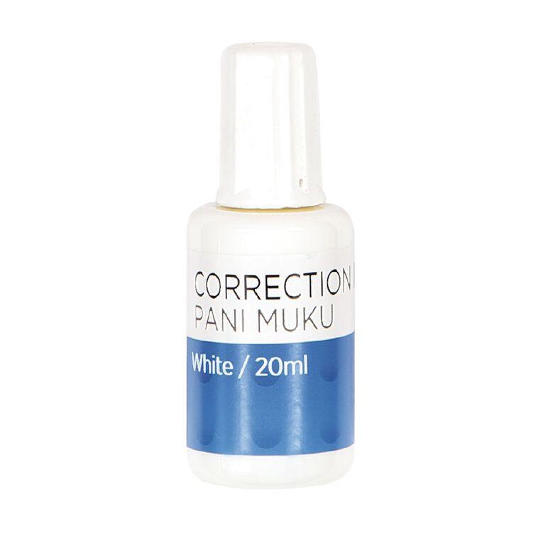 WS Correction Fluid 20ml White, , hi-res