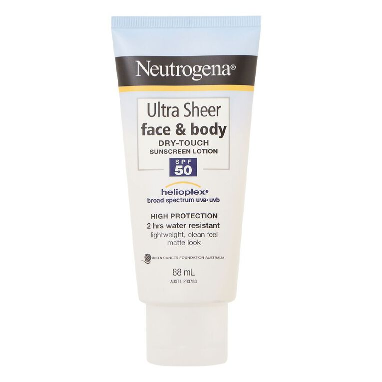 Neutrogena Ultra Sheer Face & Body Lotion SPF50+, , hi-res