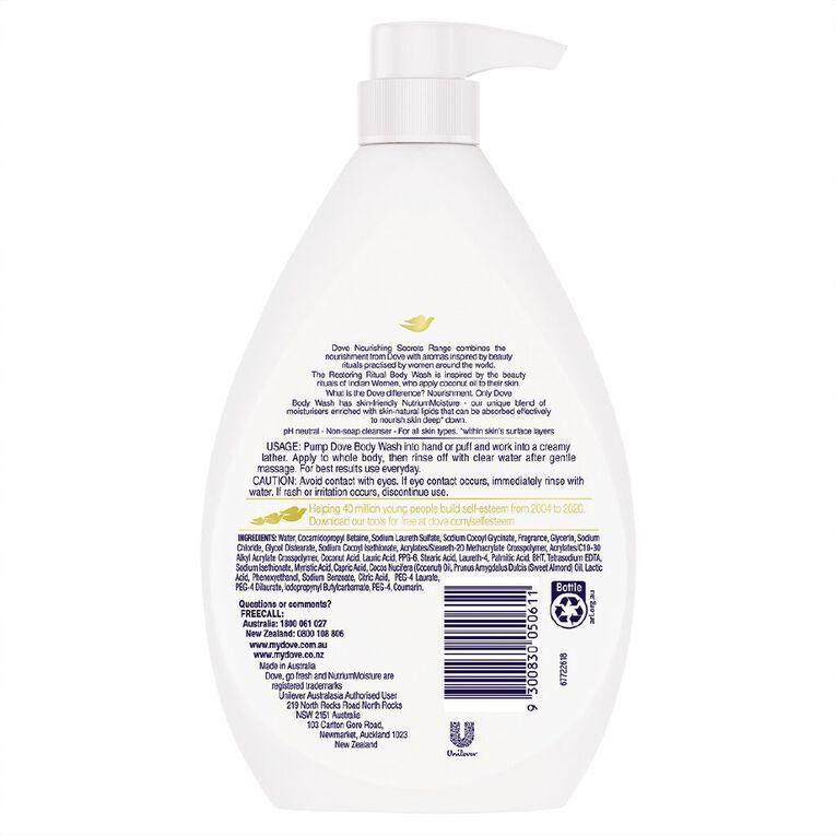 Dove Body Wash Coconut 1L, , hi-res