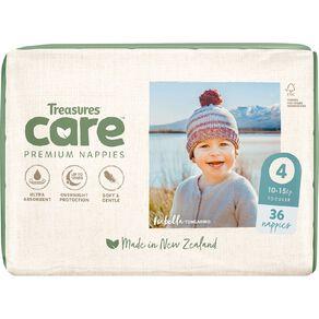 Treasures Care Nappy 4 Toddler Bulk 36pk
