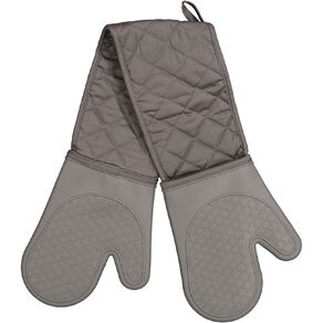 Living & Co Silicone Double Oven Glove Charcoal 90cm x 18cm