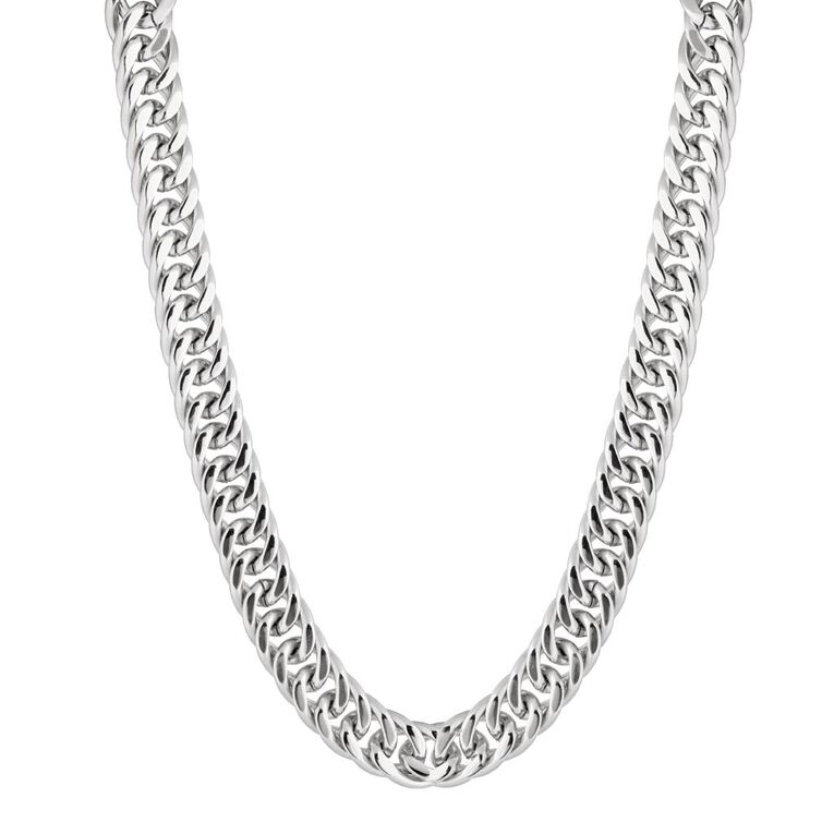 Stainless Steel Chunky Necklace, Stainless Steel, hi-res