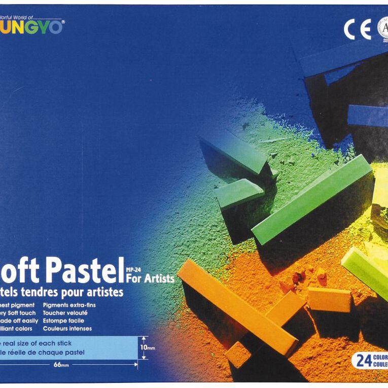 Mungyo Soft Pastels 24 Pack, , hi-res