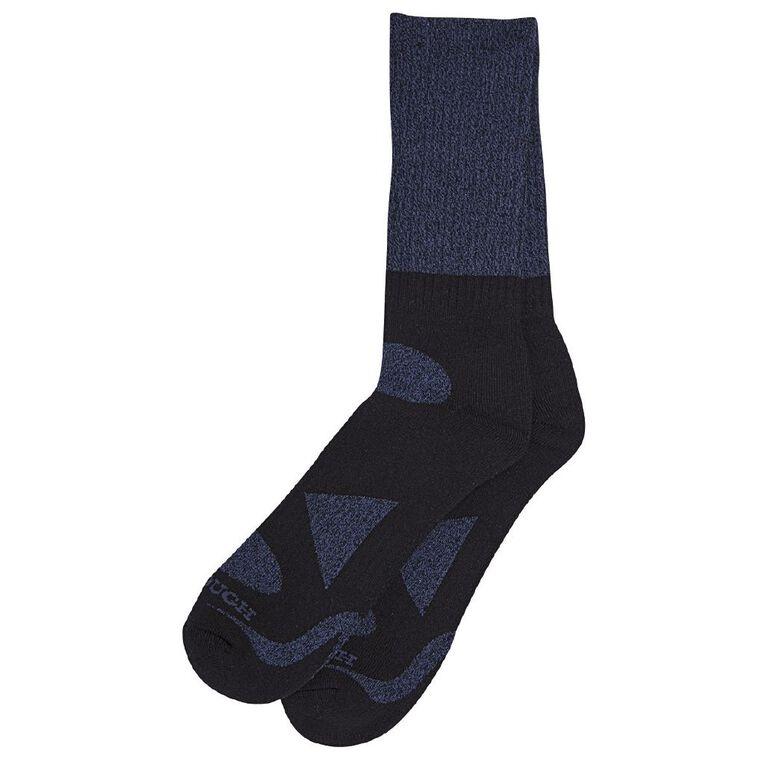 Darn Tough Men's Rib Crew Socks 2 Pack, Navy, hi-res