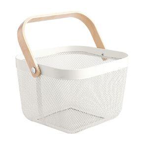 Living & Co Mesh Basket White