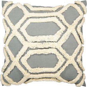 Living & Co Tufted Diamond Cushion Green Light 45cm x 45cm