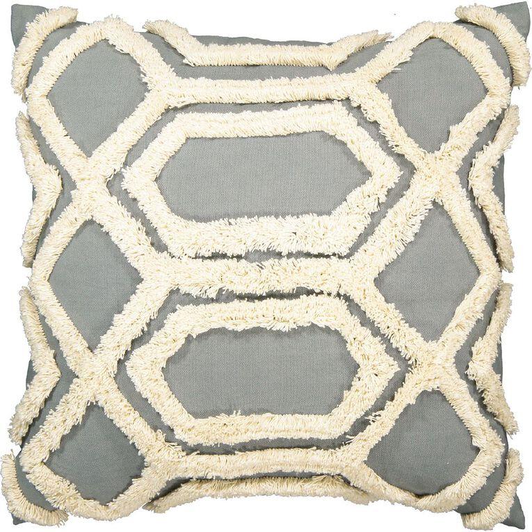 Living & Co Tufted Diamond Cushion Green Light 45cm x 45cm, Green Light, hi-res