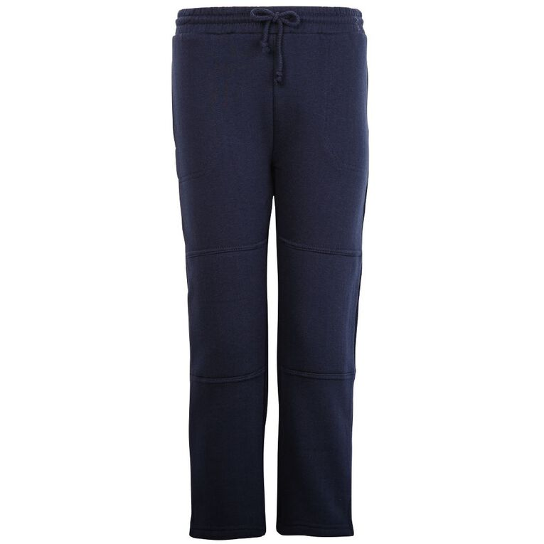 Schooltex Straight Leg Fleece Trackpants, Navy, hi-res