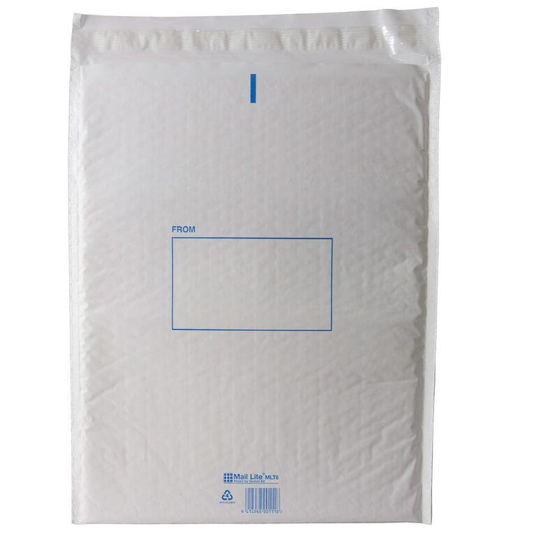 Mail Bag Lite Size 6 325 x 405mm White, , hi-res