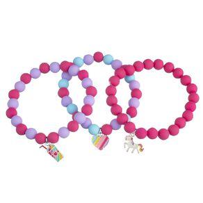 Kids' Heart Pony Smoothie Elasticated Bracelet 3 Piece Set