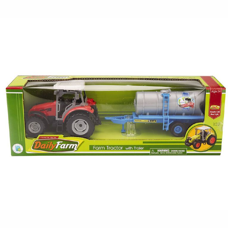 Play Studio Farm Tractor with Trailer 1:32 Assorted, , hi-res