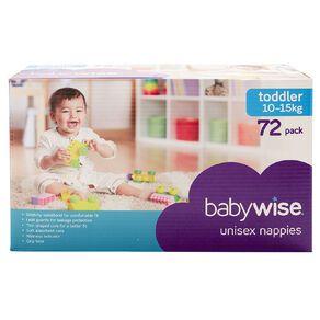 Babywise Jumbo Nappies Toddler 72 Pack