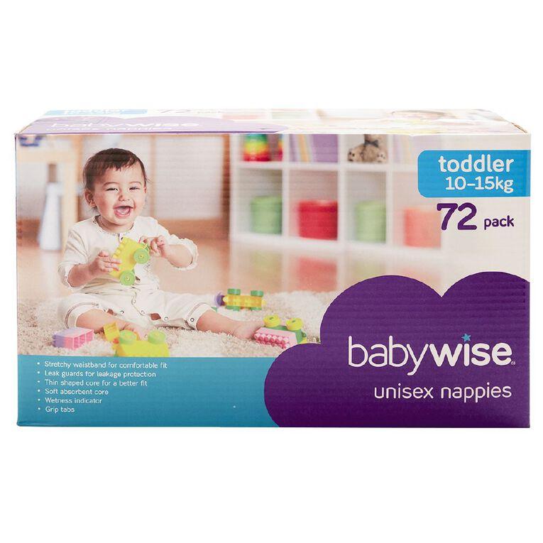 Babywise Jumbo Nappies Toddler 72 Pack, , hi-res