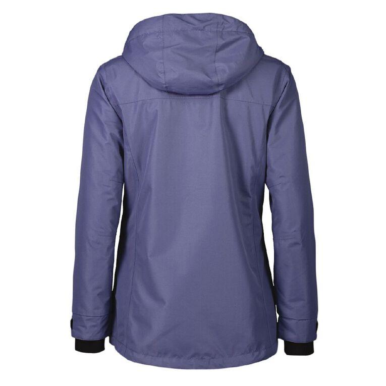 Active Intent Women's Textured Ski Jacket, Blue Dark, hi-res