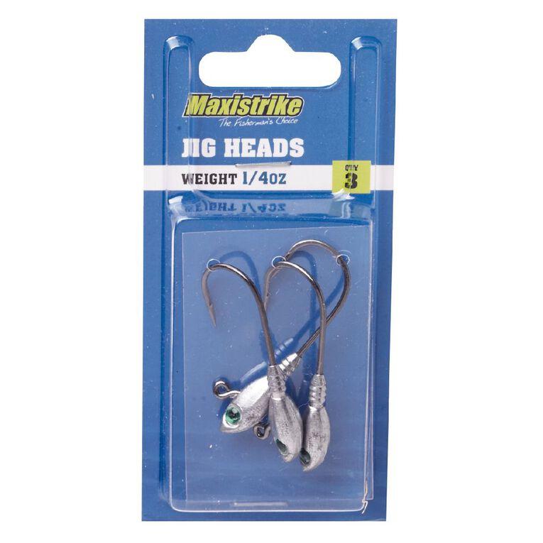 Maxistrike Jig Heads 1/4oz 3 Pack, , hi-res