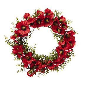 Living & Co Poppy Wreath Red