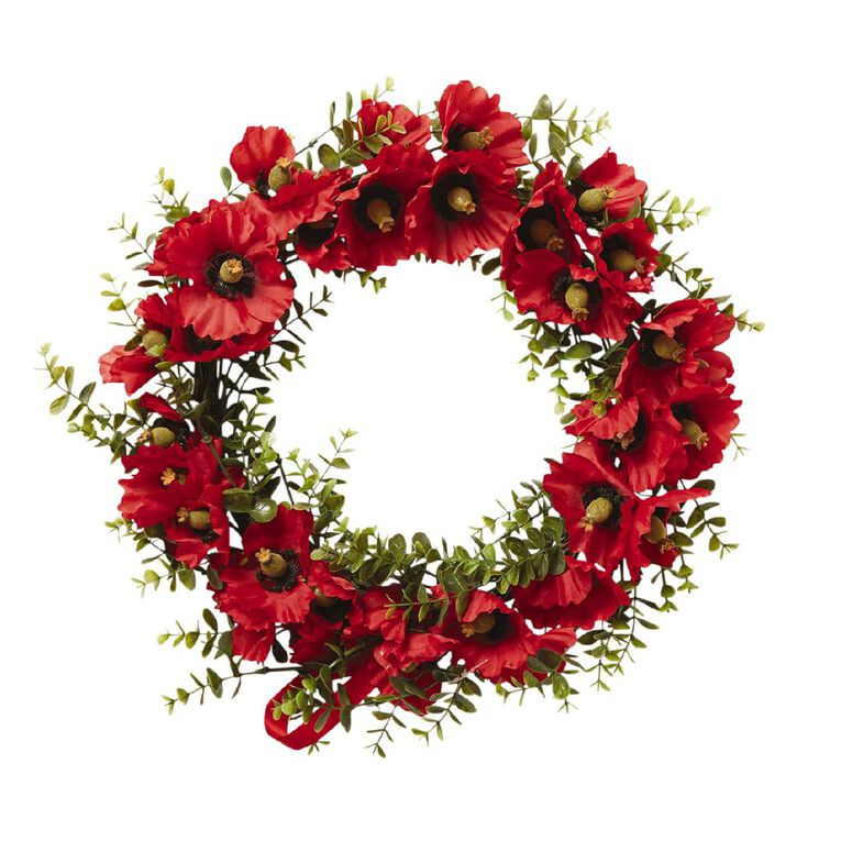 Living & Co Poppy Wreath Red, , hi-res