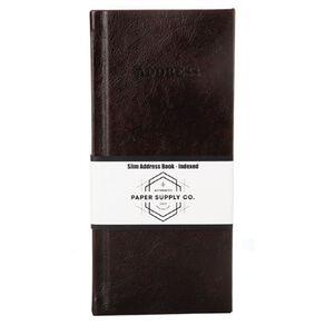 Paper Co Vintage Slim Address Book Brown