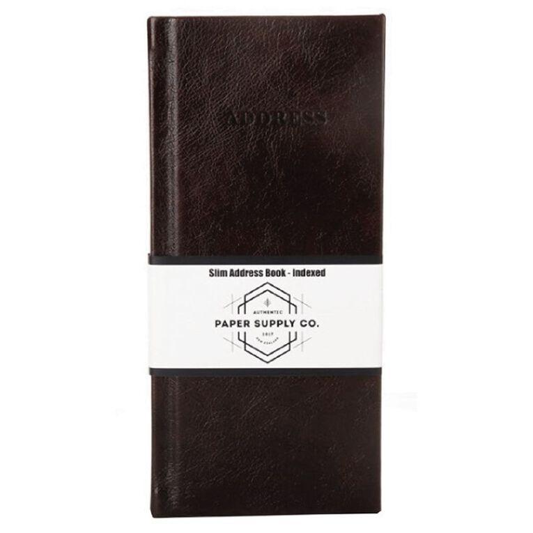 Paper Co Vintage Slim Address Book Brown, , hi-res