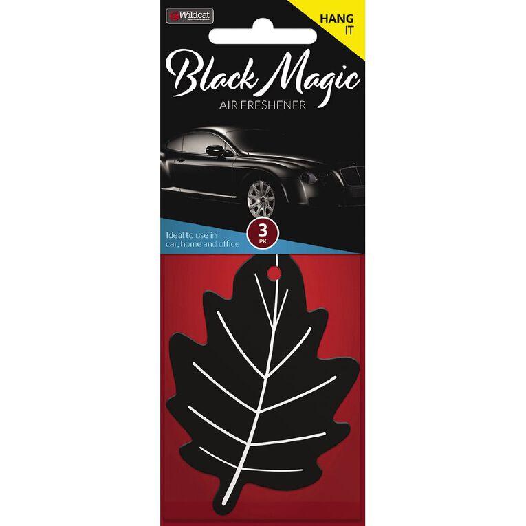 Wildcat Auto Air Freshener Leaf Black Magic 3 Pack, , hi-res