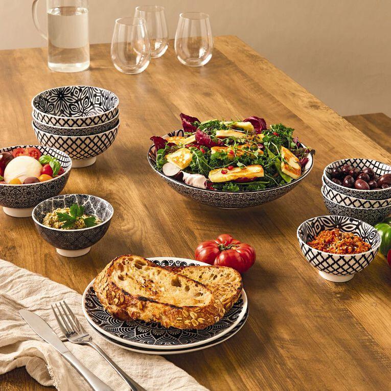 Living & Co Global Salad Bowl Monochrome 30cm, , hi-res