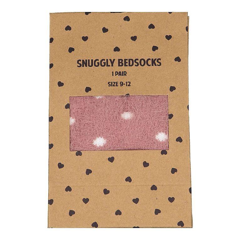 H&H Women's Bedsocks 1 Pack, Pink Mid, hi-res