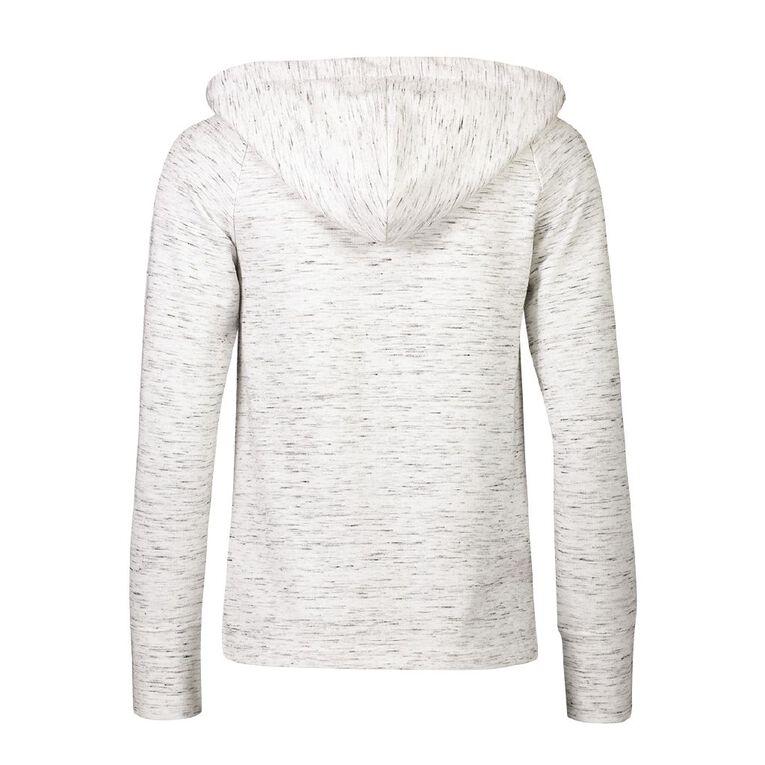 Active Intent Women's Luxe Transit Sweatshirt, White, hi-res