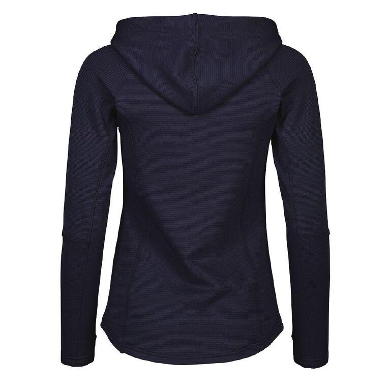 Active Intent Women's Self Stripe Fleece Sweatshirt, Midnight/Navy, hi-res image number null