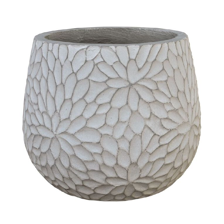 Kiwi Garden Lightweight Cement Ribbed Pot 35cm, , hi-res